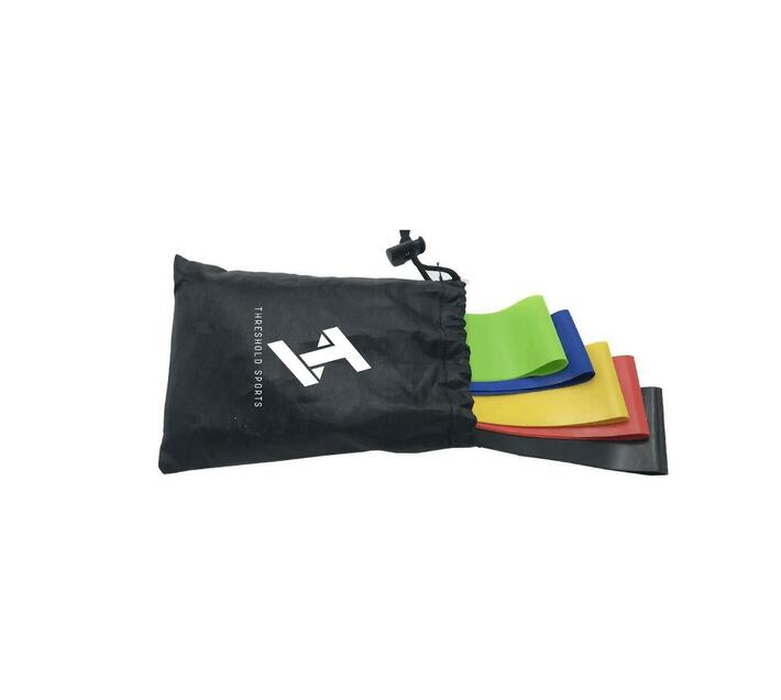Threshold Sports Set of 5 Resistance Bands with Storage Bag