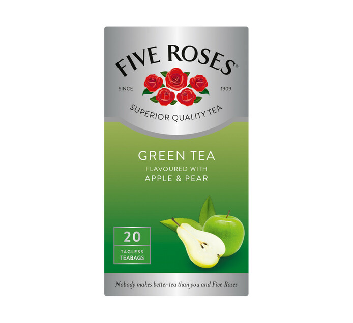 Five Roses Teabags Green Tea Apple and Pear (1 x 20's)