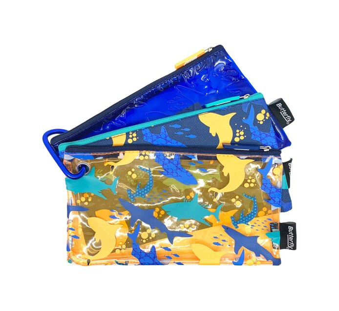 Butterfly Trio Pencil Case Assorted