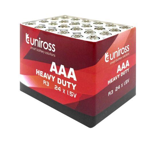 Uniross HEAVY DUTY 24PK AAA BATTERIES