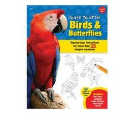 Learn to Draw Birds & Butterflies : Step-by-step instructions for more than 25 winged creatures (Paperback / softback)