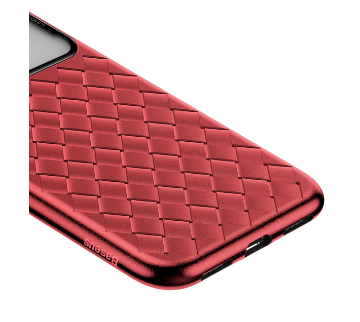 Baseus Tempered Glass & Weaving Case for iPhone X & XS - Red