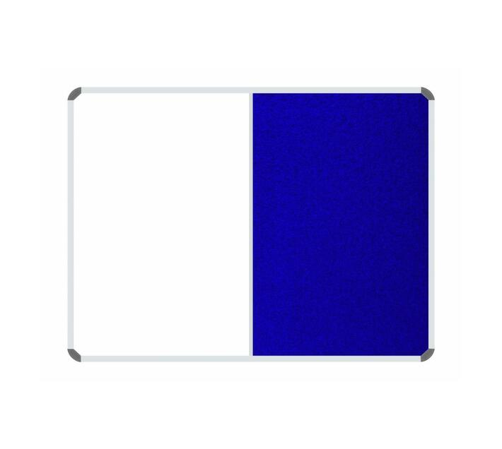 PARROT PRODUCTS Non-Magnetic Combination Whiteboard (1200*900mm, Royal Blue Felt)