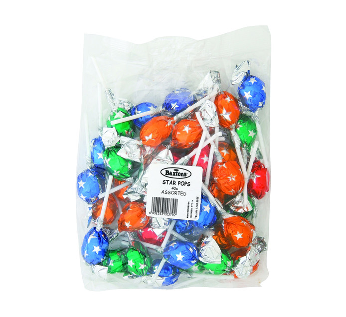 BAXTONS Star Pops Lollies Assorted Flavours (1 x 40's)