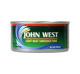JOHN WEST Tuna Shredded Brine (4 x 170g)