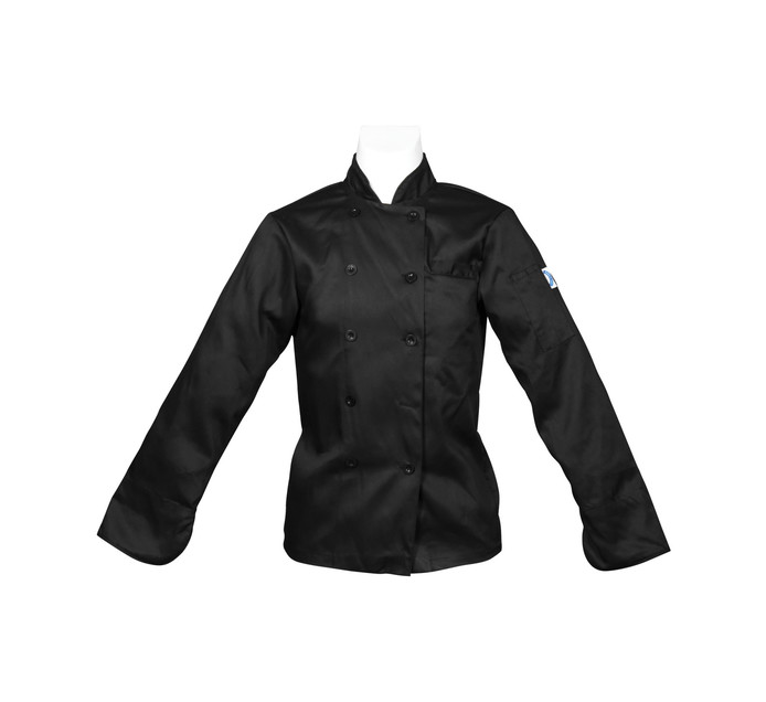 Bakers & Chefs Large Long Sleeve Chef Jacket Black
