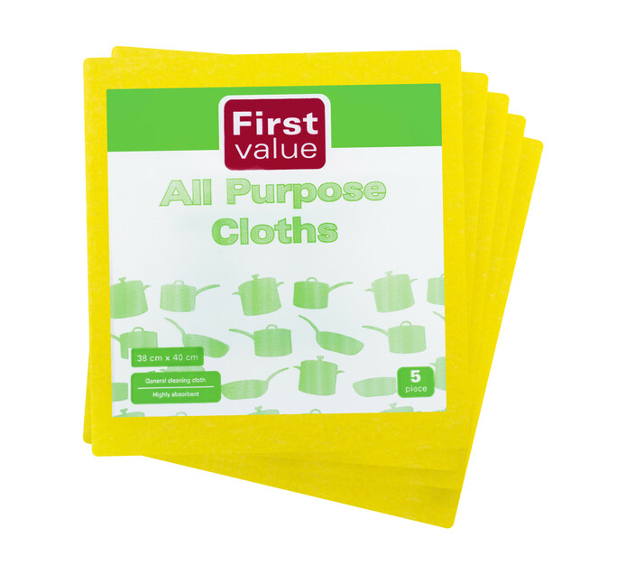 First Value All Purpose Cloths (1 x 5's)