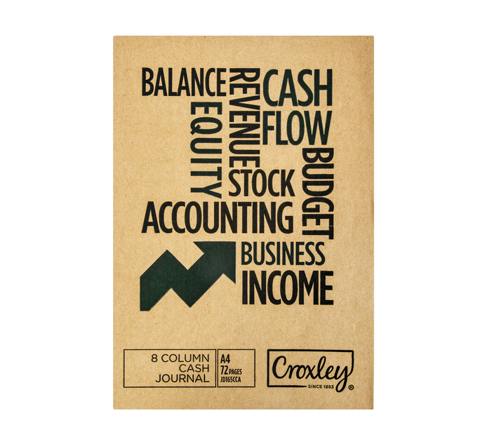 Croxley A4 Bookkeeping Cash Journal Book 72-Page
