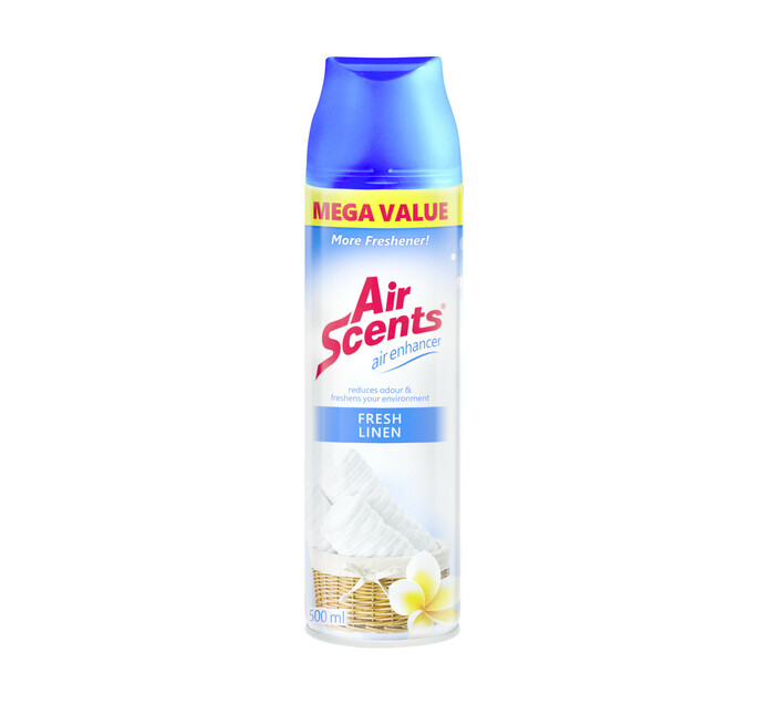 Air Scents Aerosol Air Enhancer Mega Value Fresh Linen (1 x 500ml)