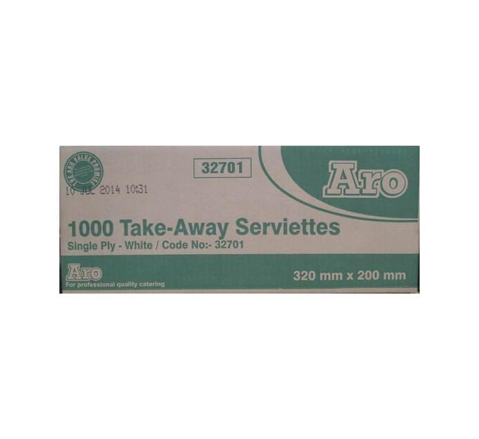ARO 1 Ply Serviettes (1 x 1000's)