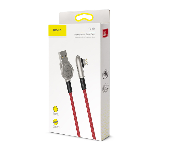 Baseus 1m - 2.4A Exciting M.G. Series USB Type-A 2.0 to Lightning Cable -R
