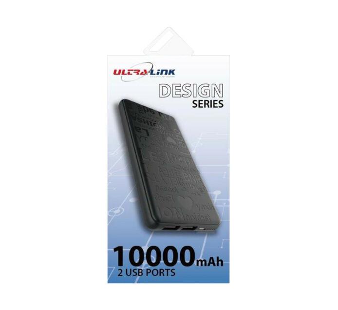 Ultra Link 10000mAh Powerbank Black
