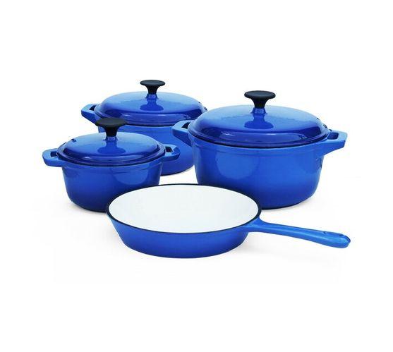 Cast Iron - 7 Piece - Double blue