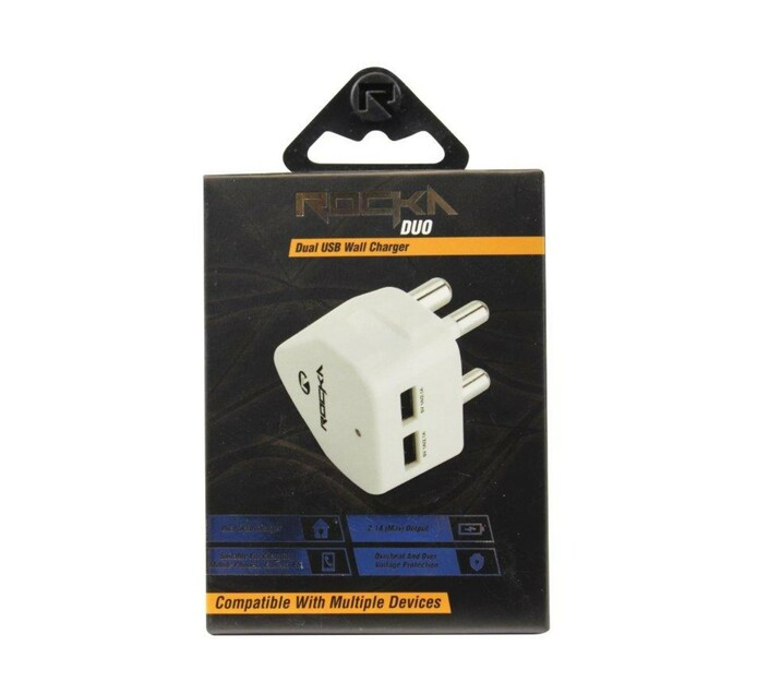 Rocka Duo USB Wall Charger White