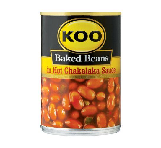 KOO Baked Beans in Sauce Hot Chakalaka (1 x 410g)