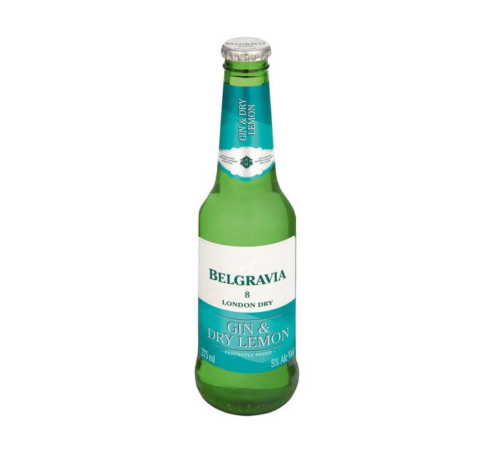 Belgravia Gin and Dry Lemon (6 x 275ml)