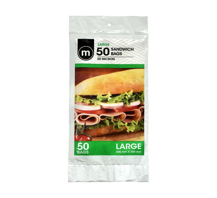 M Large Sandwich Bags (1 x 50's)