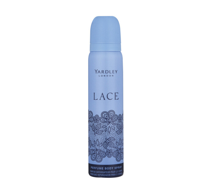 Yardley Female Body Spray Lace (6  x  90ml)