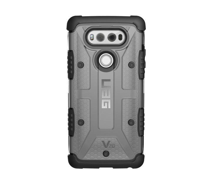 UAG Plasma Case - LG V20 (Clear and Black)