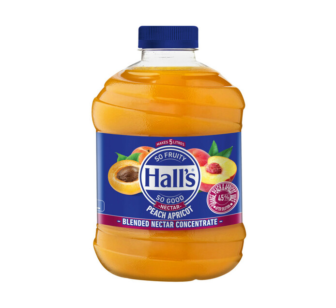 Halls Fruit Juice Peach Apricot (1 x 1L)