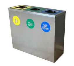 Recycle Waste Bin Stainless Steel 430 Satin 80cm