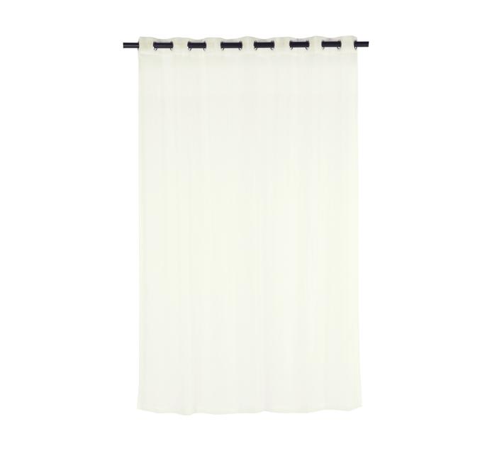 Design Collection 230 x 223 cm Plain Voile Eyelet Curtain