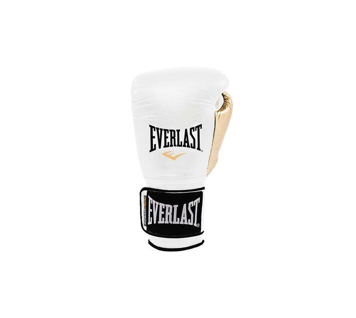 Everlast PowerLock Training Gloves - 12oz White/Gold