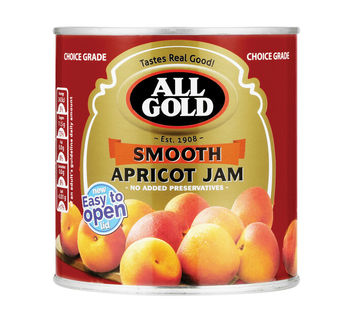 All Gold Jam Smooth Apricot (1  x 900g)