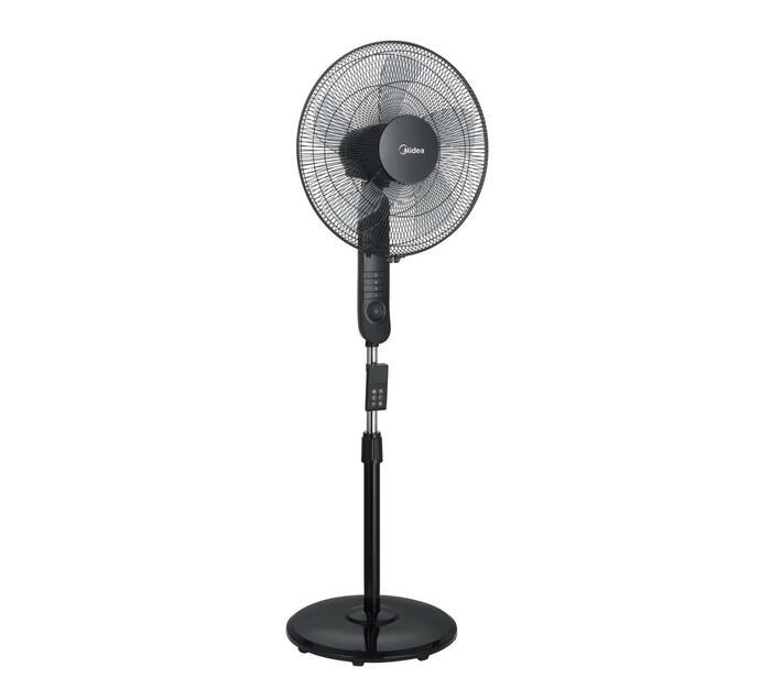 Midea - 16` Floor Fan 5 Blade with Remote - Black