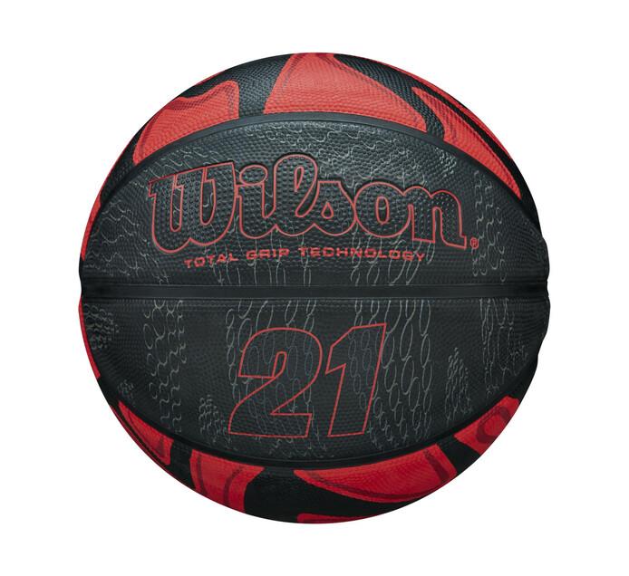 WILSON 21 SERIES BASKETBALL SZ 7 BLK/RED