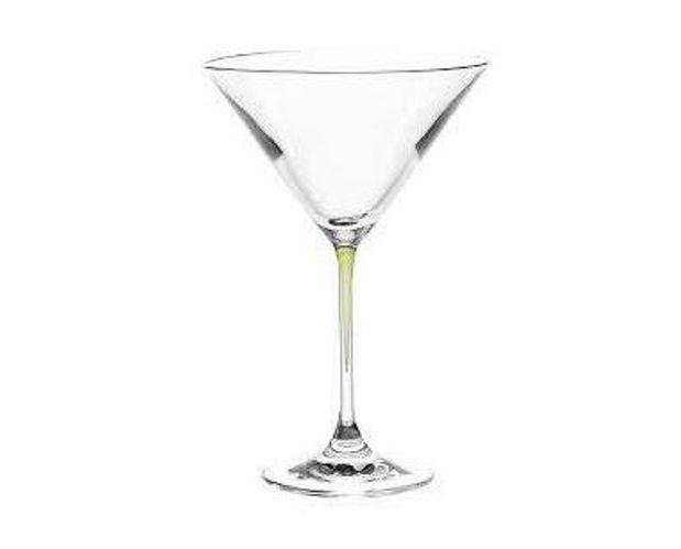 Leonardo Cocktail Glass with Green Stem LA Perla Set of 2