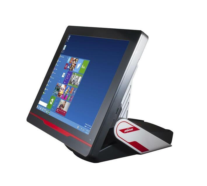 Poslab Ironpos 76; 15'' Full Black Bezel Free Resistive Touch; Intel J1900 Quad Core 2.4ghz CPU; 2.5'' 64gb SSD; 4GB RAM;Fanless