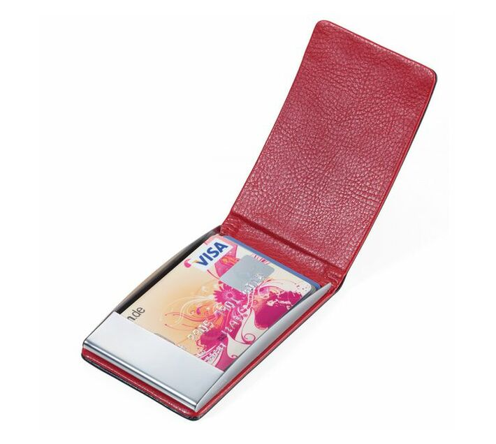 Troika Business and Credit Card Case with RFID Fraud Protection Red/Black