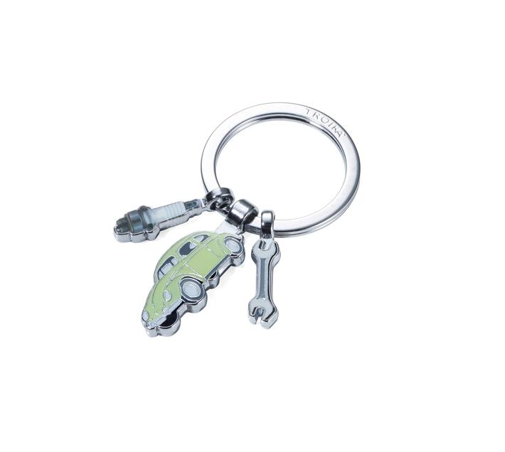 Troika Keyring with 3 Charms Volkswagen Type1 Beetle