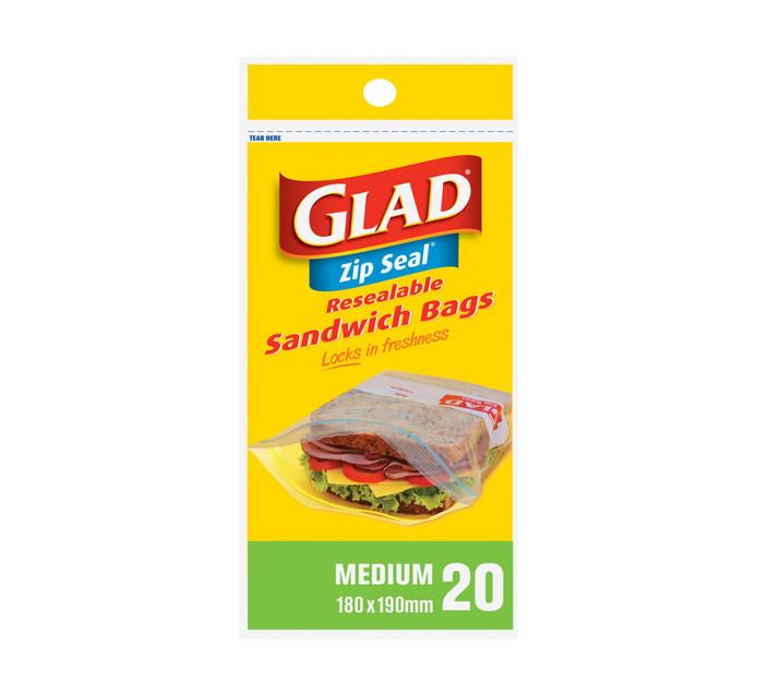 Glad Zipper Sandwich Bags (1 x 20's)