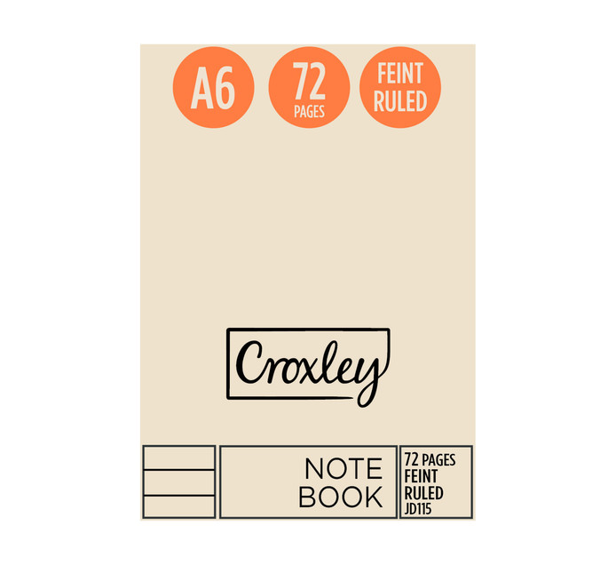 Croxley A6 Notebook 72 Page 10 Pack
