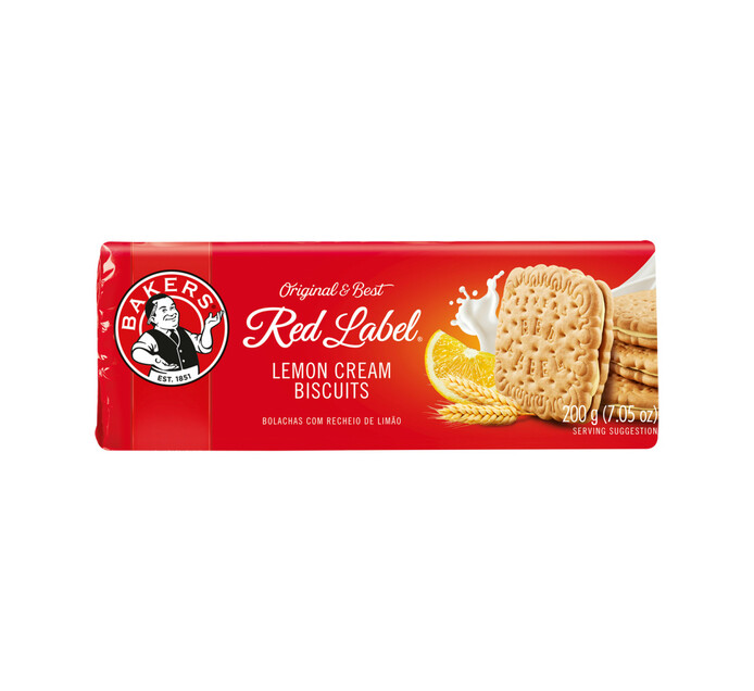 Bakers Red Label Biscuits Lemon Creams (1 x 200g)