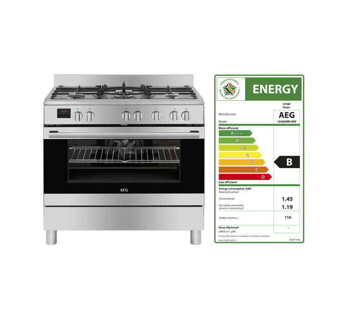 AEG 900 mm 5-Burner Gas/Electric Stove