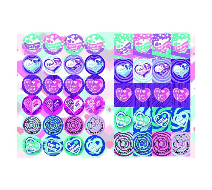 Redfern Self-Adhesive Heart Reward Stickers (A5)