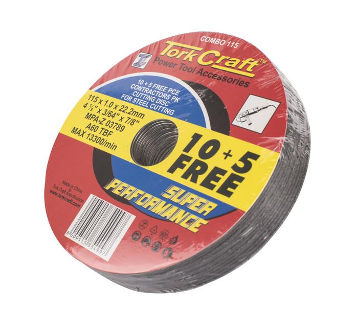TORK CRAFT 115MM Steel Cutting Disc  115 x 10 x 22.2 mm