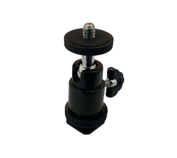 S-Cape 360 Degrees Rotation Mini Tripod Ball Head with Cold Shoe for Camera