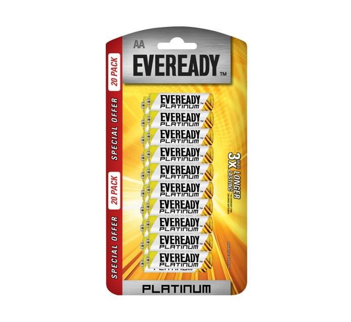 Eveready Platinum Alkaline AA Batteries 20-Pack