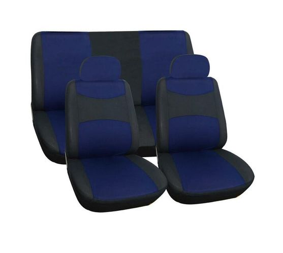 Car Seat Cover Trendy 6 Piece (Navy Blue)