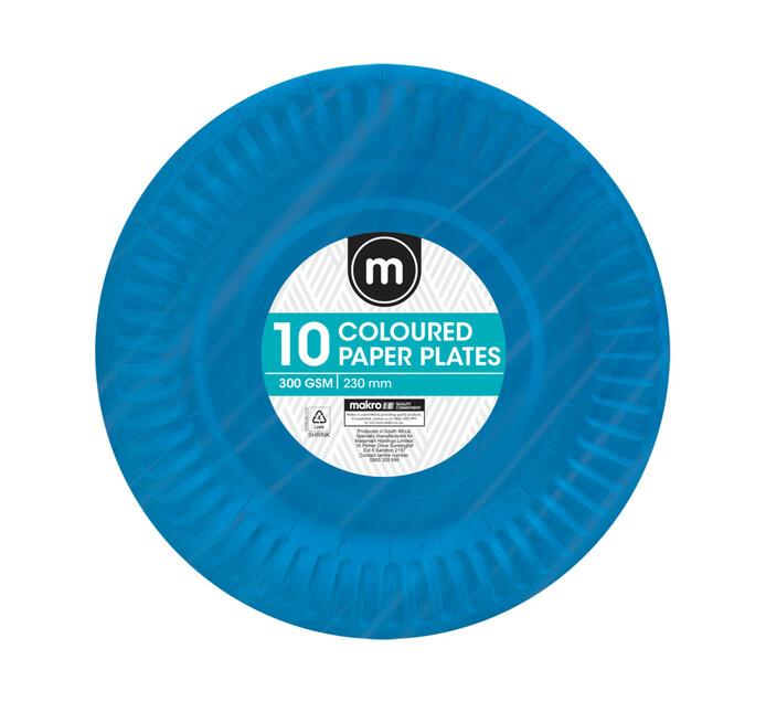 M Paper Plates 230mm Colours (100 x 10's)