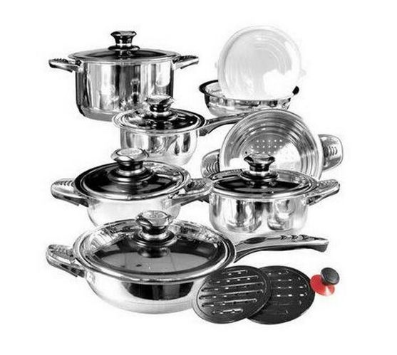 16 Piece Stainless Steel Cookware