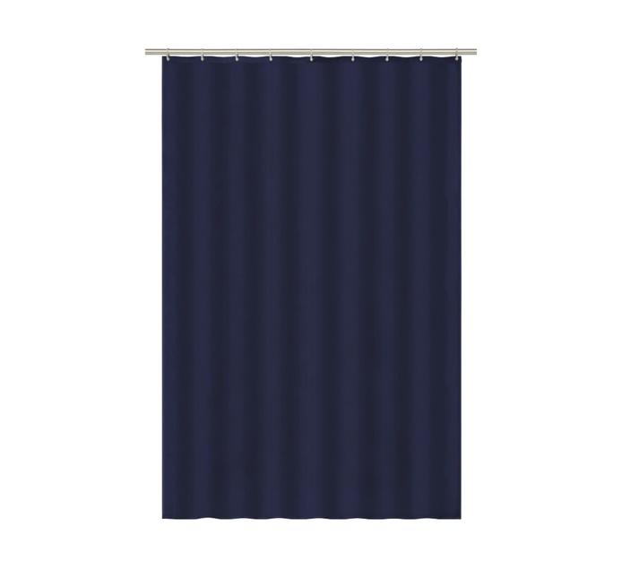 Dejay Drip Dry Shower Curtain, Navy Blue