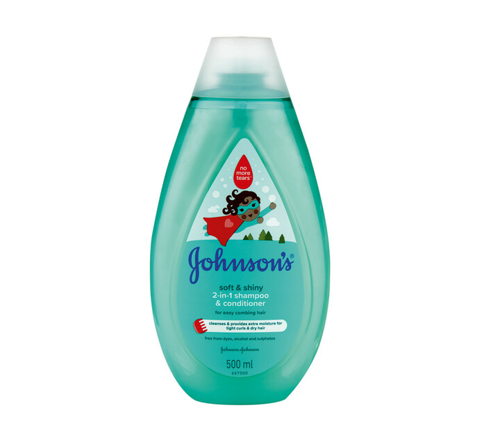 Johnsons Soft and Shiny 2in1 Shampoo and Conditioner (1 x 500ml)