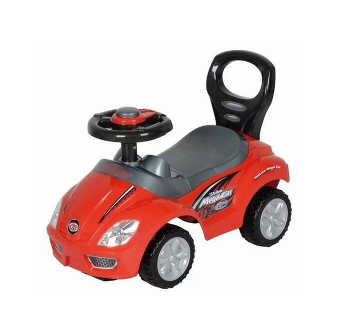 Ride-On Mega Car Deluxe Red with Parent Easy-Grip