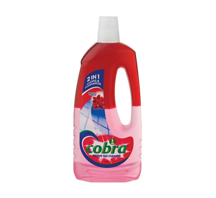 Cobra Active Tile Cleaner Floral (1 x 750ml)