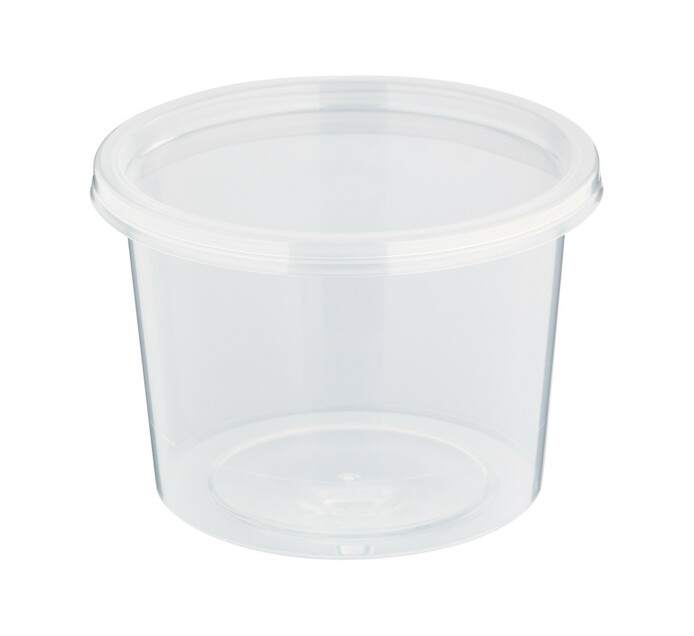 ARO Plastic Tub And Lid Micowave (1 x 50's)